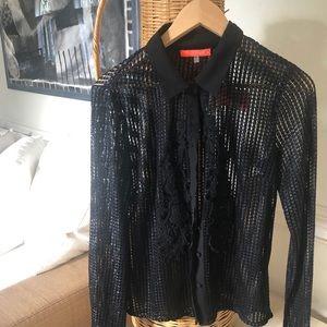 Lulumari woven blouse black